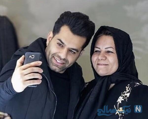 عکس جدید رضا بهرام درکنار مادرش