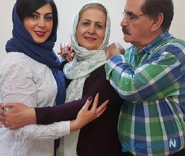پدر و مادر خانم بازیگر
