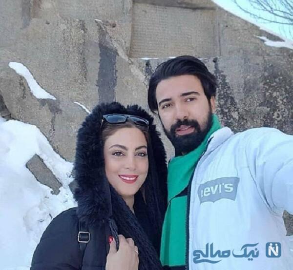 عاشقانه های نیلوفر شهیدی و همسرش