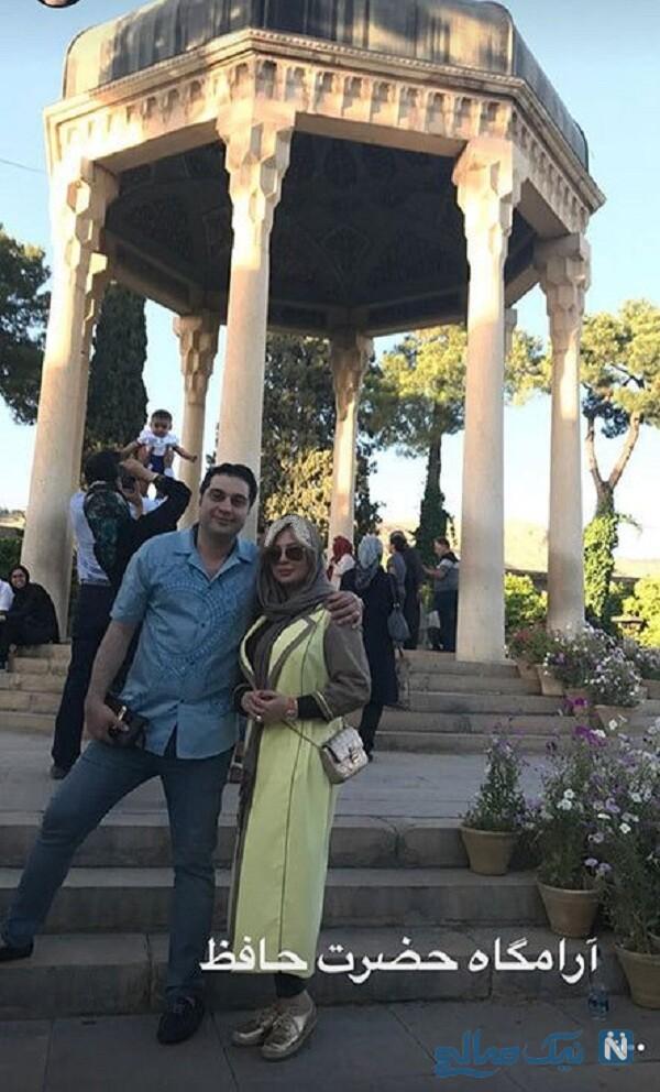 آرش پولادخان و نیوشا ضیغمی در شیراز