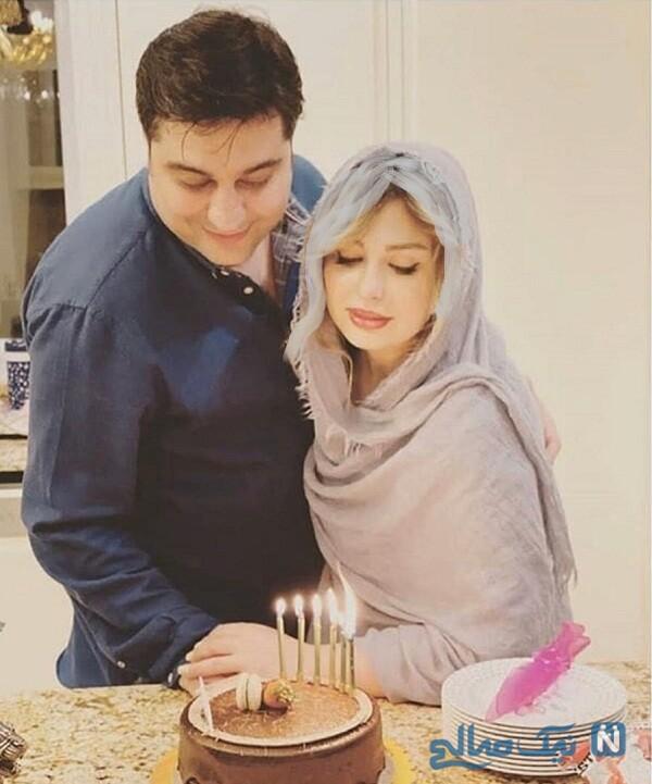 سالگرد ازدواج نیوشا ضیغمی و همسرش