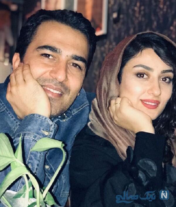 عکس الهام طهموری و همسرش حامد احمدجو