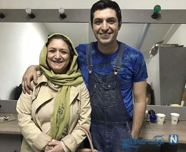 عکس مادر اشکان خطیبی بازیگر