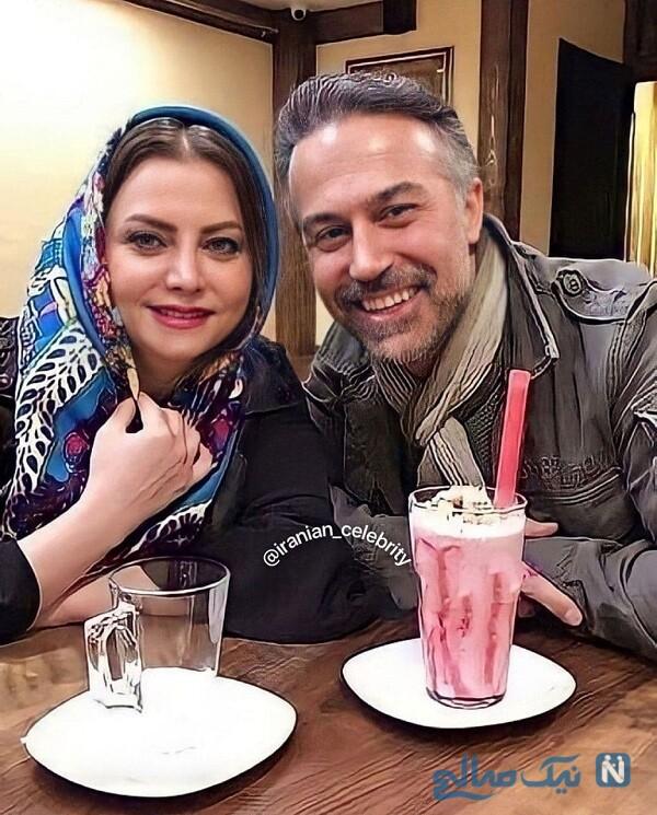 دانیال حکیمی و همسرش در کافه