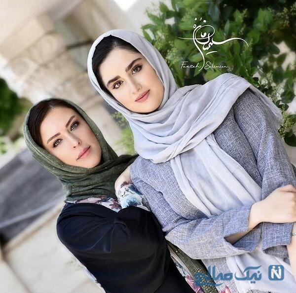 لادن سلیمانی و دخترش
