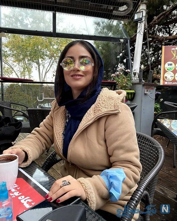 هانیه غلامی با عینک خاص