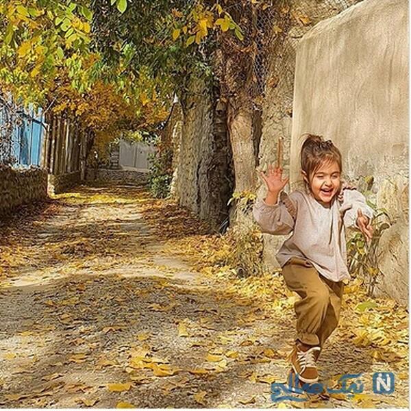 عکس پاییزی دختر محسن کیایی