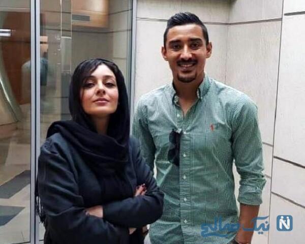 ساره بیات و فوتبالیست معروف