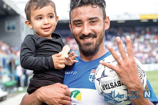 عکس پسر رضا قوچان نژاد فوتبالیست