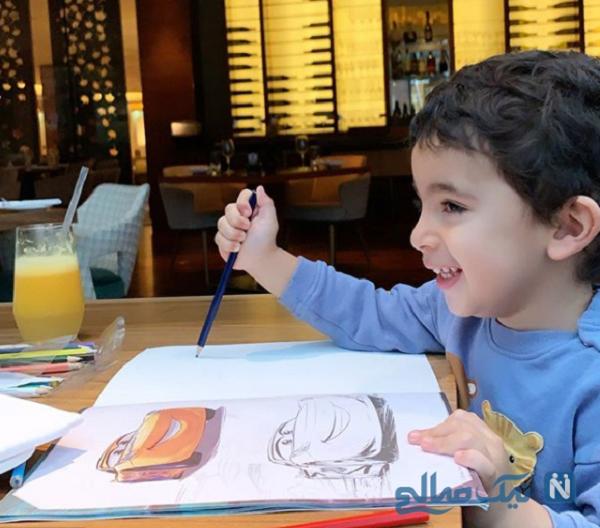 نقاشی کردن پسر رضا قوچان نژاد