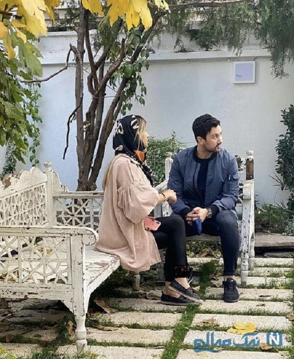 شاهرخ استخری و همسرش در فصل پاییز