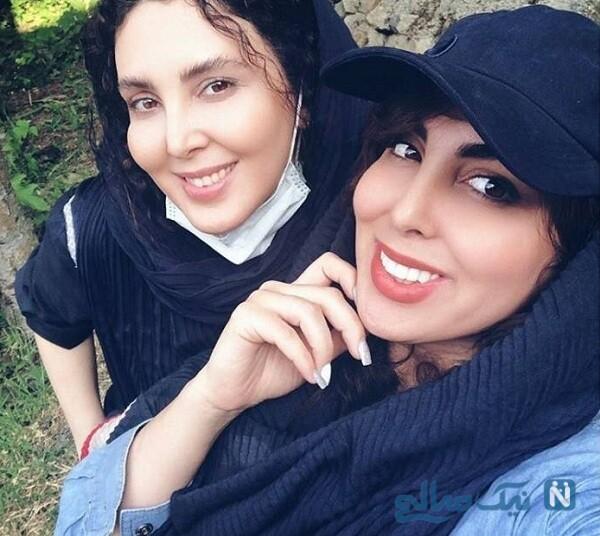 عکس های لیلا بلوکات و خواهرش در طبیعت