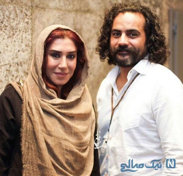تصویر نسیم ادبی و همسرش
