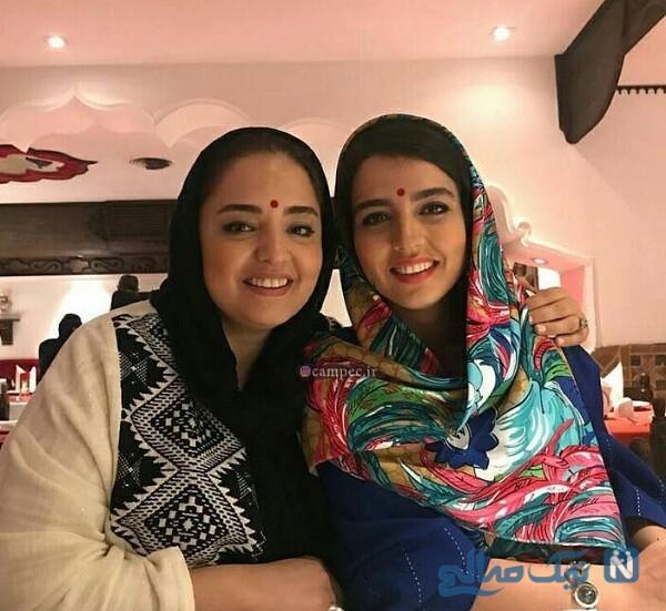جدیدترین تصاویر نرگس محمدی و خواهرش