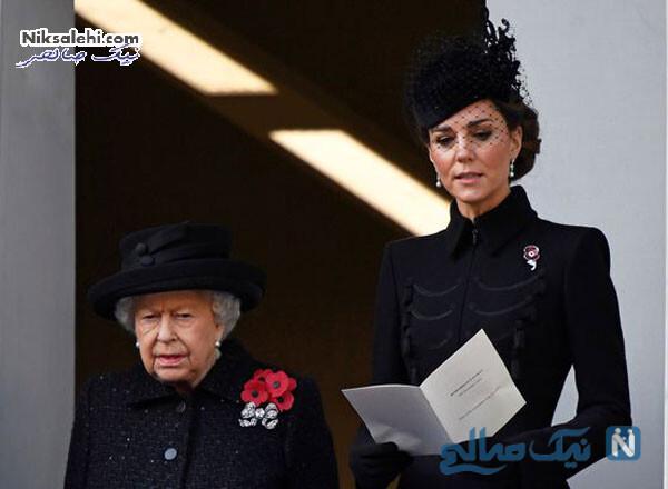 ملکه و کیت میدلتون