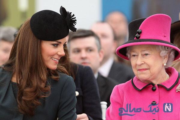 ملکه الیزابت دوم و سنت شکنی او با نایستادن کنار کیت میدلتون