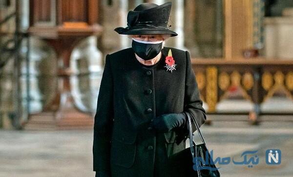 الیزابت دوم با ماسک