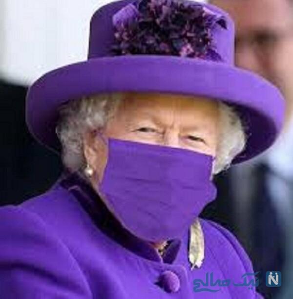 ماسک ملکه انگلیس در یک مراسم