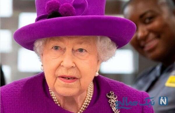 حضور ملکه انگلیس با ماسک برای اولین بار در مجامع عمومی