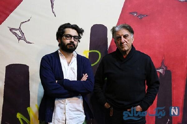 رضا کیانیان و پسرش علی