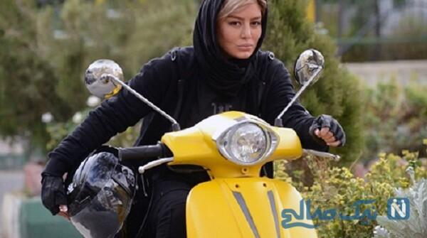 موتورسواری سحر قریشی بازیگر