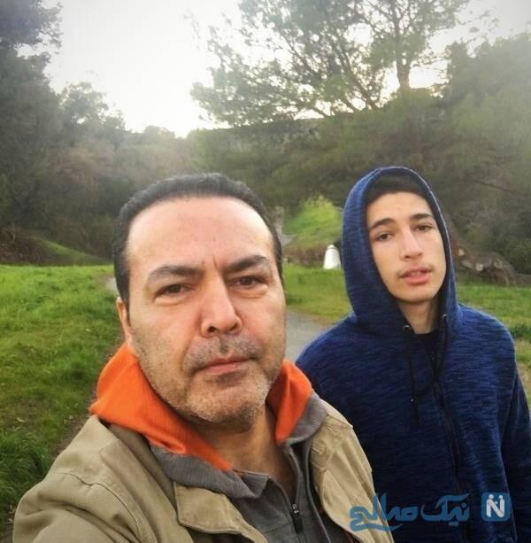 سلفی فریبرز عرب نیا و پسرش