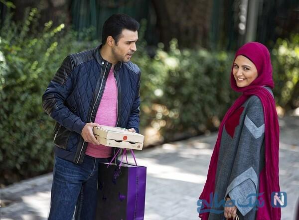 سامان صفاری و نیلوفر کوخانی زوج عاشق پیشه سریال خانه امن