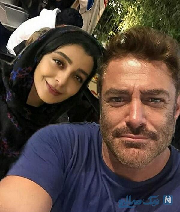 رضا گلزار و خانم بازیگر