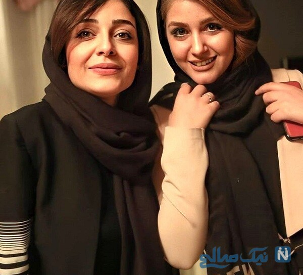 ساره بیات بازیگر ایرانی و دوستش