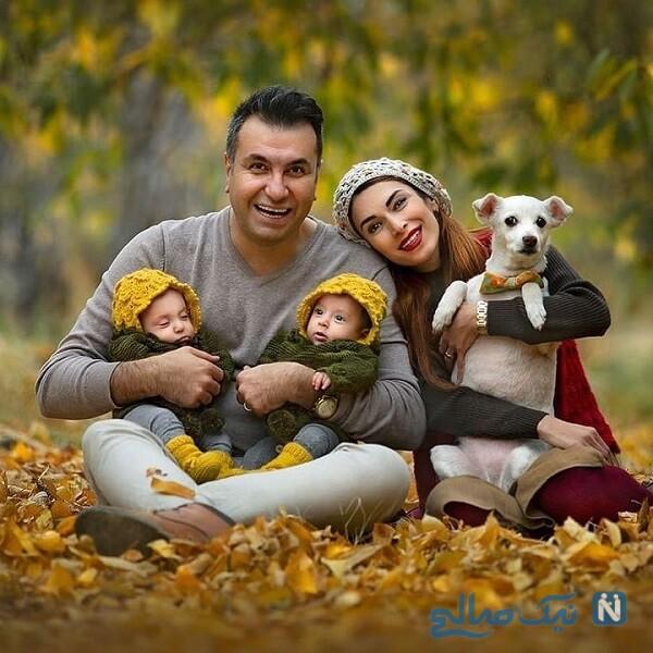 عکس خانوادگی بازیگر زن