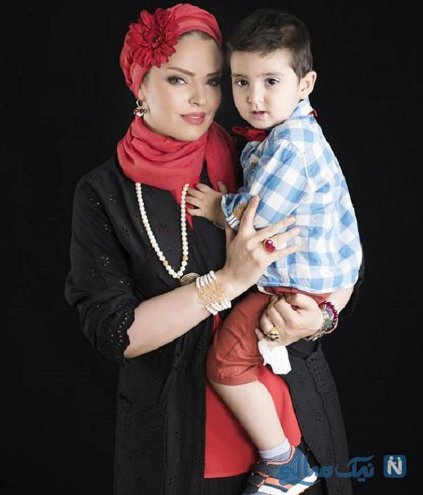 سپیده خداوردی بازیگر ایرانی و پسرش