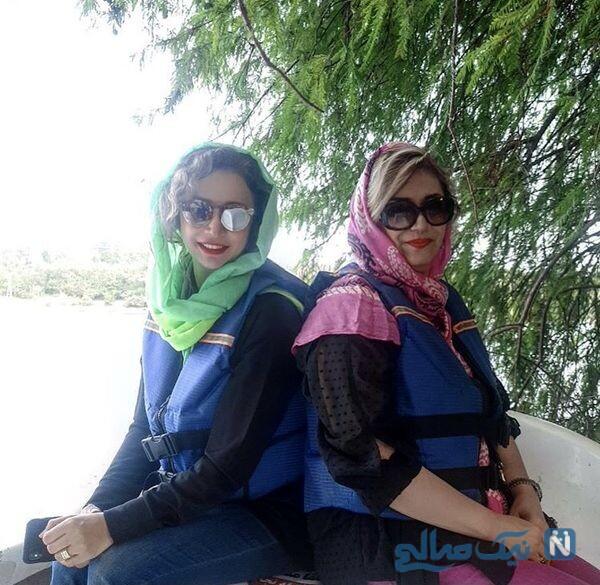 تیپ جدید شبنم قلی خانی و خواهرش
