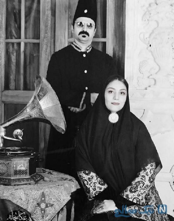 تیپ قاجاری شبنم مقدمی و همسرش