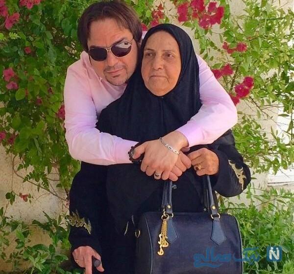 تصویری از شهرام قائدی و مادرش