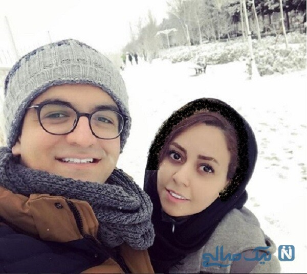 تصویری از سینا شعبانخانی و همسرش