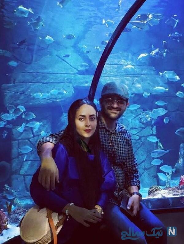 عاشقانه سینا شعبانخانی خواننده معروف و همسرش
