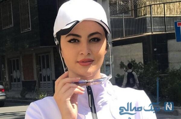 چهره جدید مریم مومن بازیگر جوان با تغییر رنگ و مدل موهایش