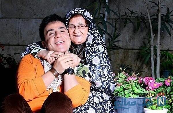 تصویری جالب از عمو پورنگ و مادرش