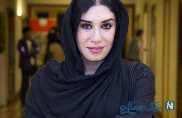 عکس دو نفره نسیم ادبی بازیگر سریال شرم و همسرش