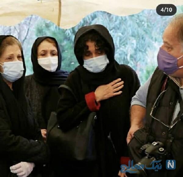 مراسم تشییع پرویز پورحسینی با حضور خانواده