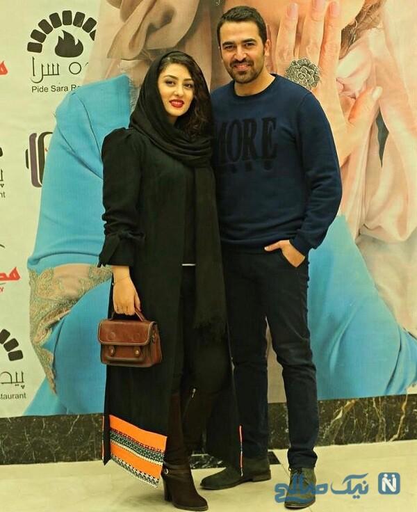 الهام طهموری بازیگر معروف و همسرش