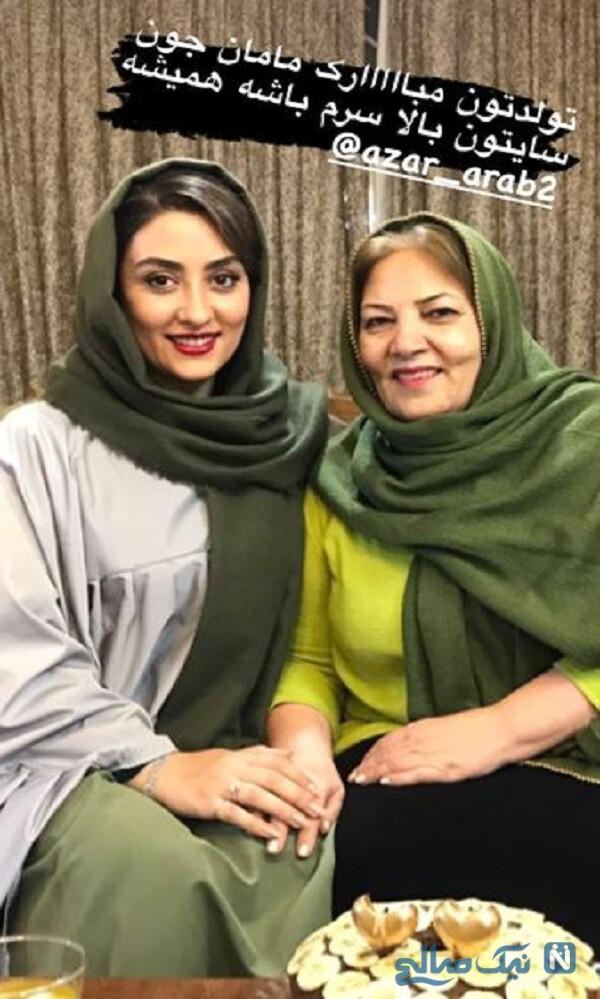تبریک الهام طهموری برای تولد مادر شوهرش