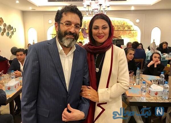 لاله اسکندری بازیگر و همسرش