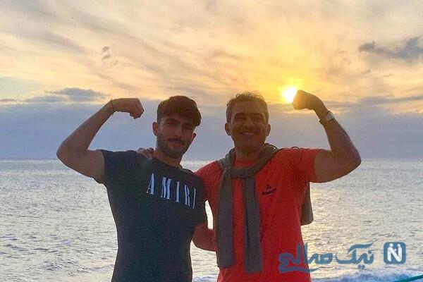احمدرضا عابدزاده و پسرش امیر