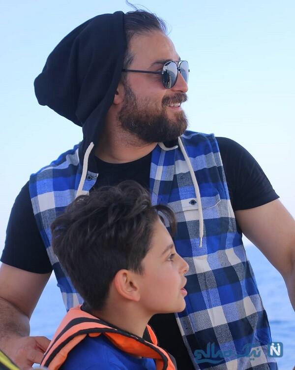 خواننده معروف و پسرش
