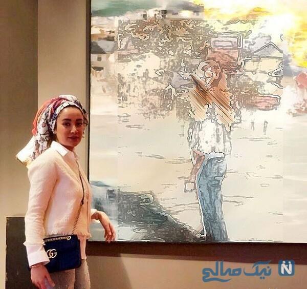 بهاره افشاری در گالری نقاشی