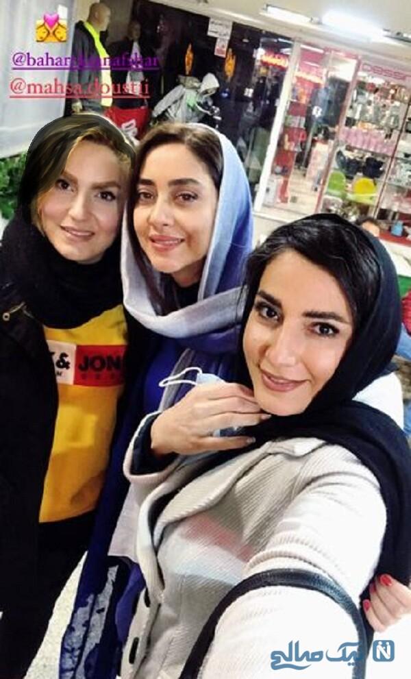 پاساژگردی بهاره کیان افشار و دوستان بازیگرش