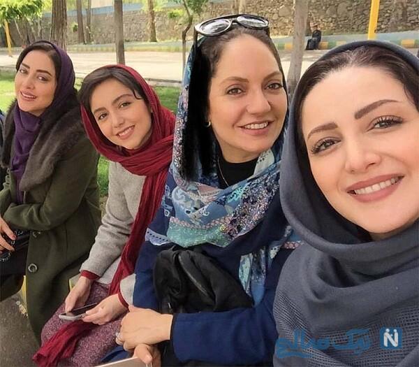 عکس جالب از بهاره کیان افشار و دوستانش