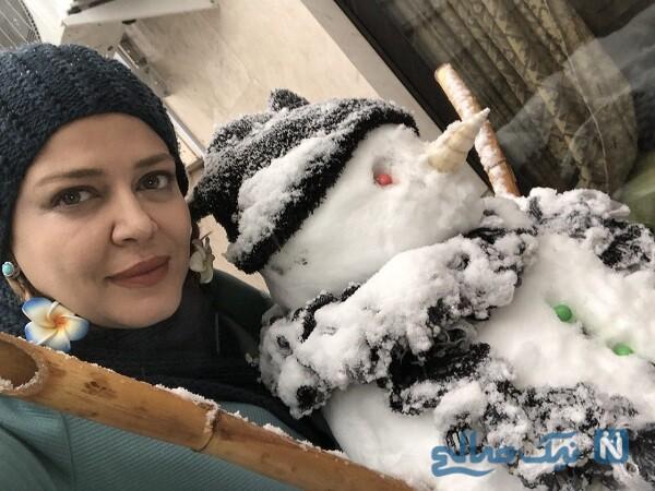 تصویری از بهاره رهنما در برف