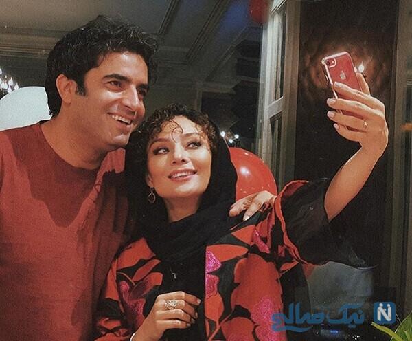 سلفی منوچهر هادی و همسرش